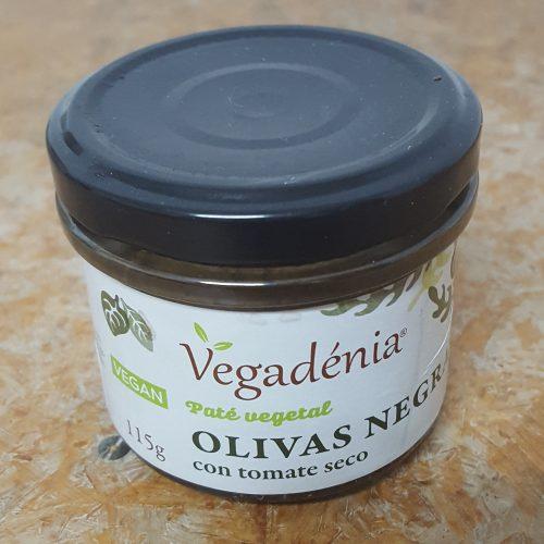 Pate Vegetal Ecologico Aceitunas Negras con Tomate Seco Vegadenia