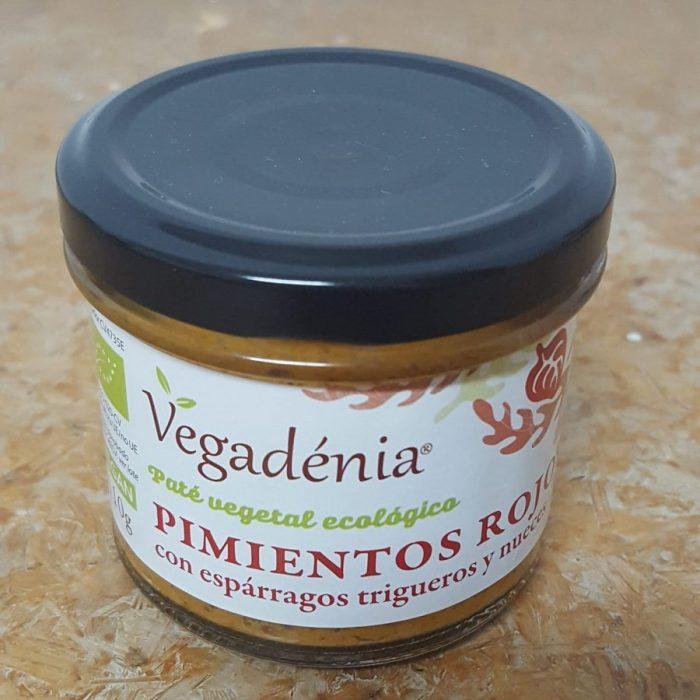Pate Vegetal Ecologico Pimientos Rojos con Trigueros y Nueces Vegadenia