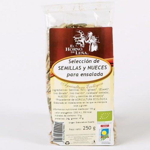 seleccion de semillas y nuecesecologicas para ensaladas