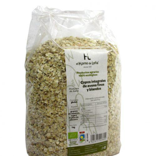 Copos de avena integral ecologica finos y blandos 1kg