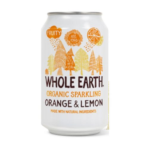 Whole Earth zumo de naranja y limon sin azucar 33cl