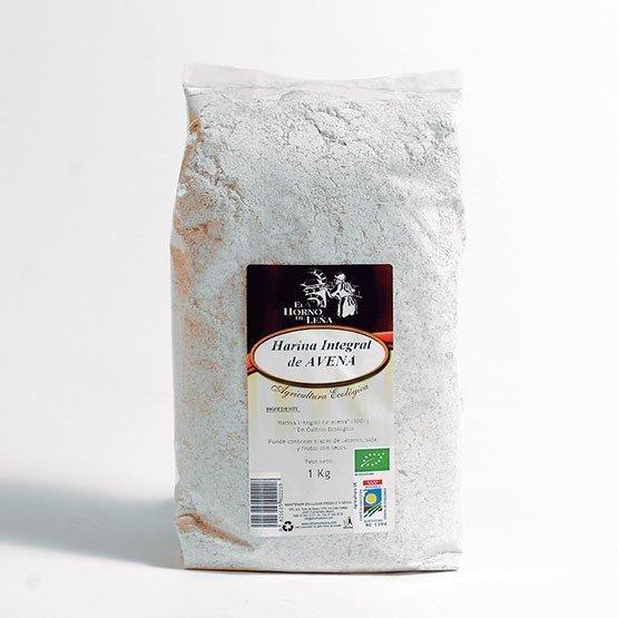 harina integral de avena ecologica 1kg