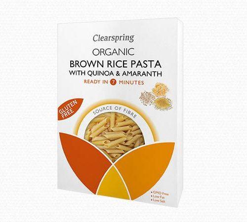 macarrones ecologicos sin gluten de arroz integral quinoa y amaranto