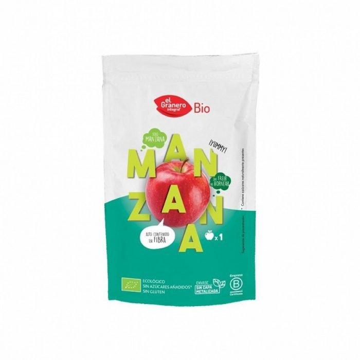 Snack de Manzana ecologica deshidratada El Granero Bio