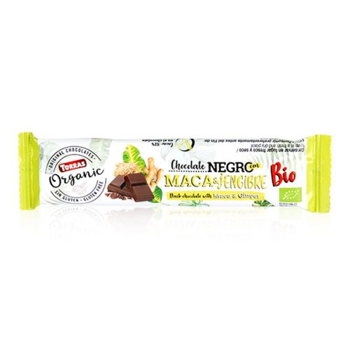 Torras barrita chocolate negro maca jengibre 25gr