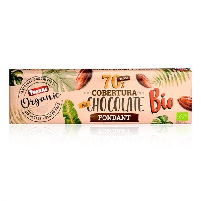 Torras cobertura chocolate fondant 70 225gr