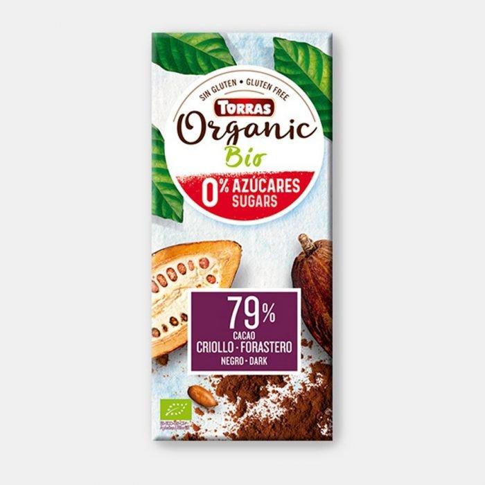 torras chocolate 79 sin azucar 100gr