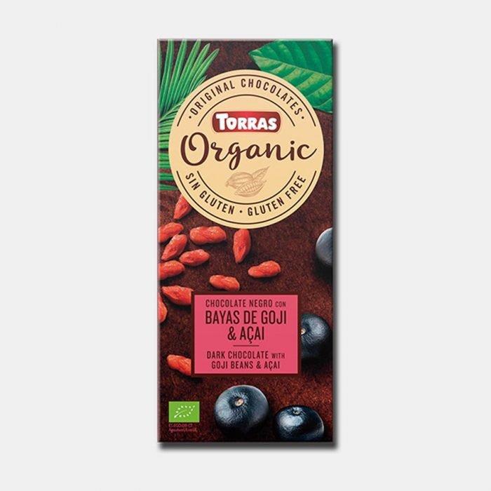 torras chocolate bayas de goji acaj 100gr