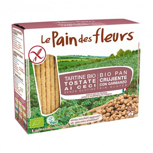 Pan de Flores ecologico trigo sarraceno y garbanzo sin gluten