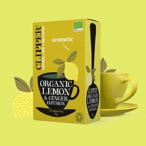 clipper infusion limon y gengibre 20 bolsitas