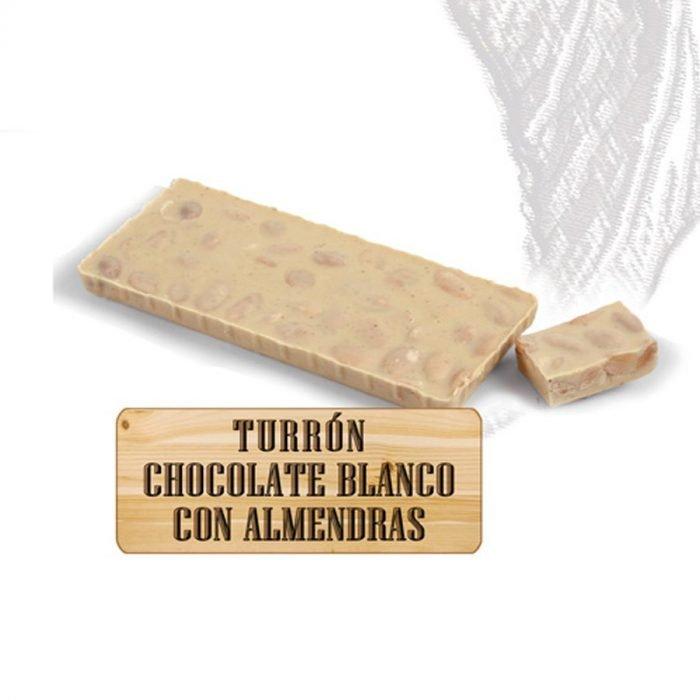 nutxes turron chocolate blanco almendras ecologico 200gr