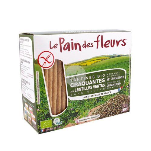 pan de flores ecologico con lentejas verdes sin gluten