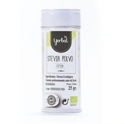 yerbal stevia polvo lata 25gr