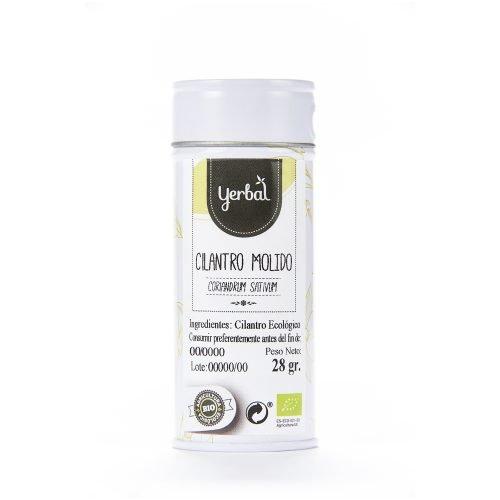 cilantro bio molido yerbal lata 28g