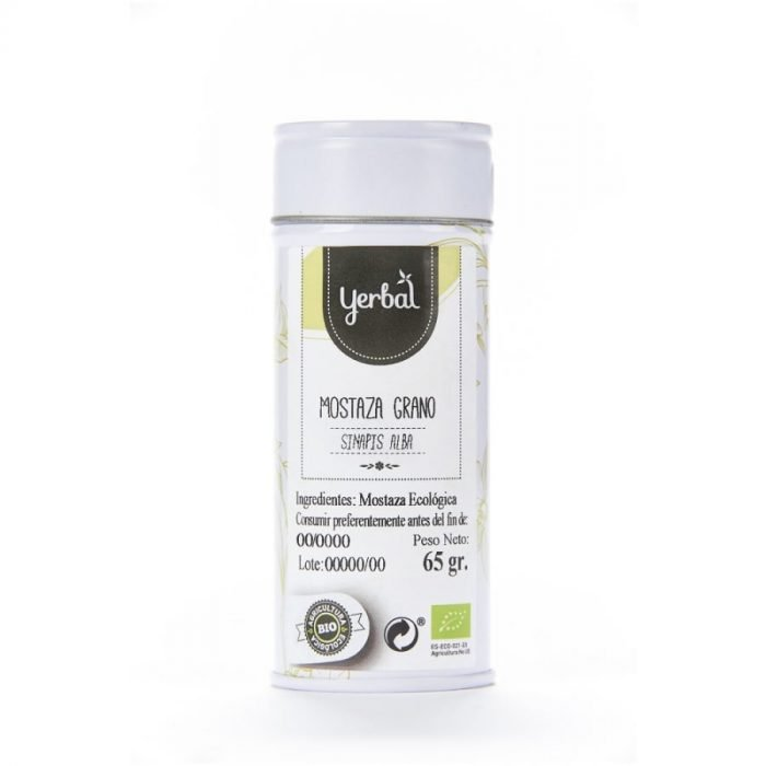 mostaza bio en grano yerbal lata 65g