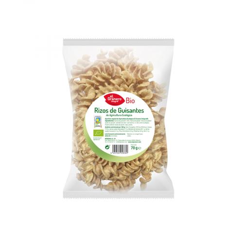 Snack Ecologico Rizos de guisante El Granero Bio 70g