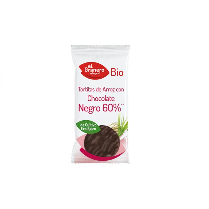 Tortitas ECO de arroz con chocolate negro sin gluten Granero Bio 100g
