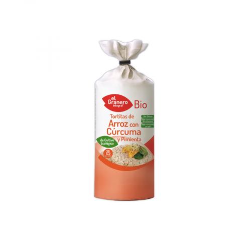 Tortitas ECO de arroz con curcuma y pimienta sin gluten Granero Bio 115g