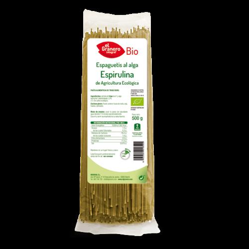 espaguetis ECO a la espirulina el granero bio 500g
