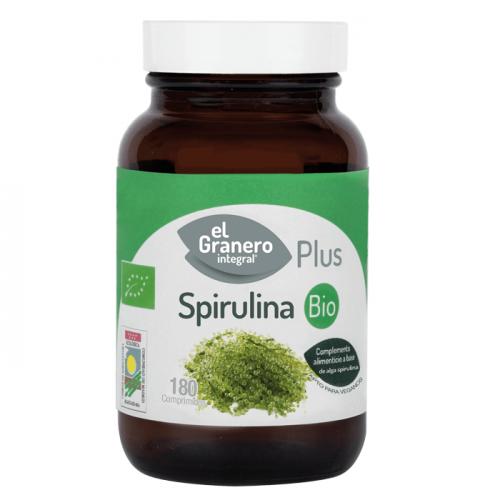 spirulina ecologica 500mg el granero bio 180 comprimidos