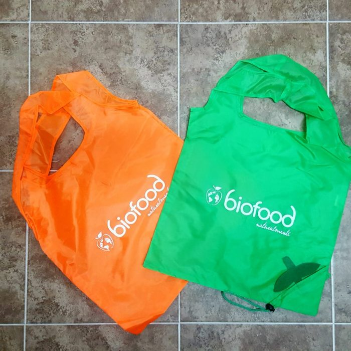 Bolsa de la compra plegable y reutilizable BIOFOOD