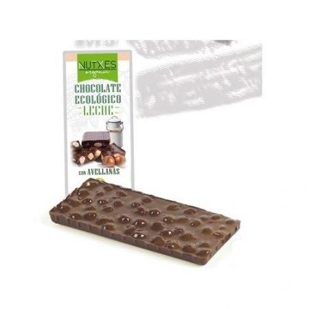 Chocolate bio con Leche y Avellanas Nutxes