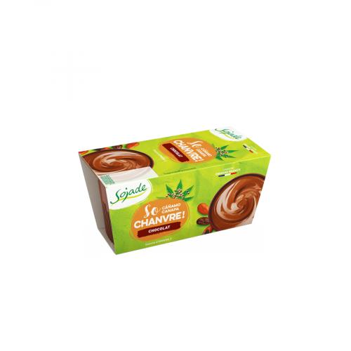 postre de soja ecologico con chocolate y cáñamo