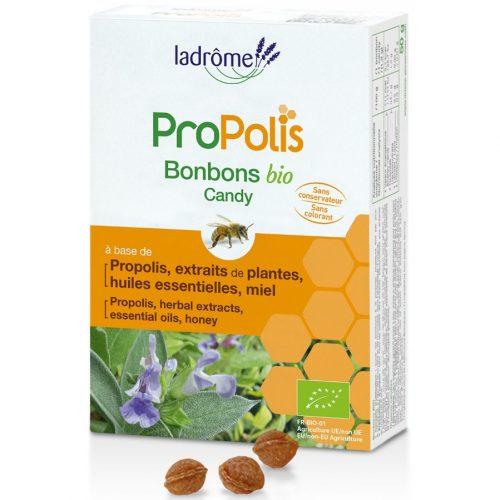 Caramelos ecologicos de Propoleo con miel equinacea y salvia Ladrome 50g