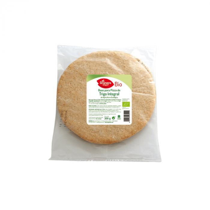 bases pizza trigo integral bio El granero 2uds 300g