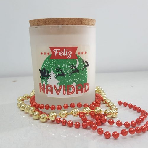 Vela Perfumada Navideña Vegana Vaso Cristal 140g