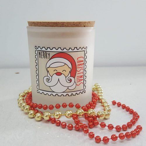 Vela Merry Christmas Vegana Vaso Cristal 140g