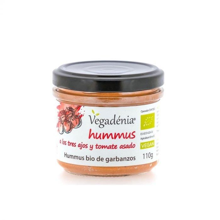 Hummus ecologico garbanzo con tres ajos y tomate asado