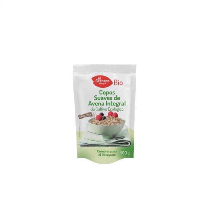 Copos de avena suaves sin gluten ecologicos el granero 500g