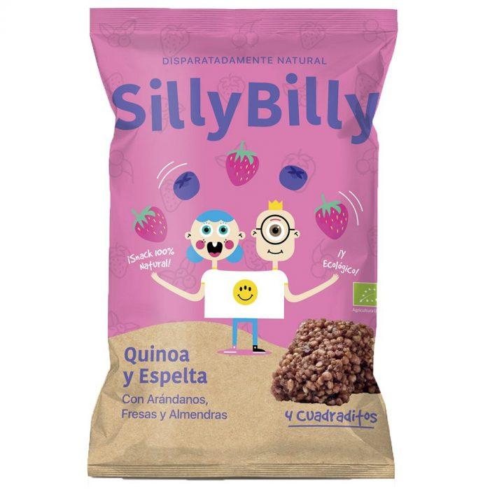 Cuadraditos Bio Arándanos_Fresa_Espelta_Quinoa_24g_SillyBilly